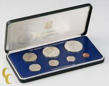 1980 British Virgin Islands Proof Sets, Rare, All Original 7 coins w/ Case