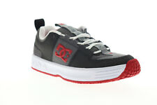 Dc рысь Og скейтборда 100425 мужской серый кожаный скейт стиле кроссовки обувь