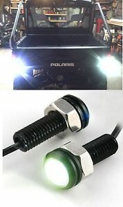 2x Bright White Polaris Ranger Back-up Weatherproof LED Reverse Lights RAZOR