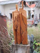 """Max Müller """"Holz - Paar"""" Skulptur vom Kettensäger - Hrdlicka Akademie Stuttgart"""