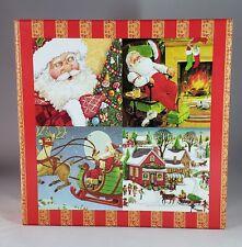 Christmas Holiday Advent Calendar 4 Puzzles 25 Gift Boxes Santa NWOT