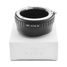 Pentax K PK Mount Lens to Canon EOS M M2 M3 EF-M PK-EOS M Camera Adapter Ring