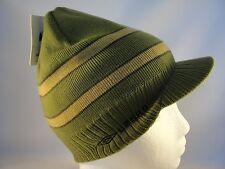 Umbro Radar Knit Beanie Visor Brim Hat Green