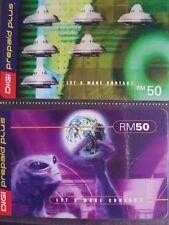 Digi Malaysia ALIEN Used Phone Cards Set