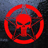 Sticker PUNISHER  autocollant SKULL - carrosserie, vitre, mural 13 coloris -r5