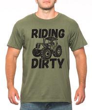RIDING DIRTY funny tractor T-Shirt farming farm case IH john deere MILITARY