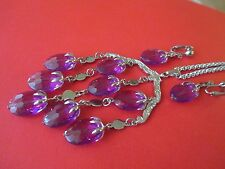 """Vintage Sarah Coventry """"Wisteria"""" Necklace & Dangle Earrings Set--817"""