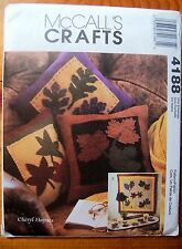 McCall's Crafts ~ 4188 ~ Autumn Leafs ~ Mini Quilt, Table Runner & Pillows ~ New