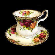ROYAL ALBERT OLD COUNTRY ROSES COFFEE CUP WITH SAUCER - NEAR MINT CONDITION