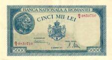 05 Romania / Rumänien P56a 5000 Lei 20.12.1945 pair (2 Notes) UNC
