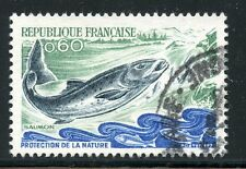 STAMP / TIMBRE FRANCE OBLITERE N° 1693 FAUNE / SAUMON