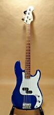 FENDER SQUIRE P BASS AFFINITY Right Hand Midnight Blue with Case & Strap