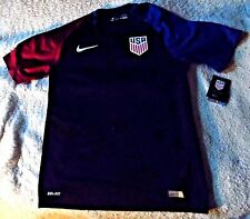 """UNITED STATES of AMERICA """"NIKE STADIUM"""" BLUE/RED USA SOCCER JERSEY MEN'S XL $90"""