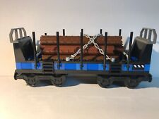Lego Open Freight Wagon 10013 City Train My Own Log Brown Cargo 60098 4512 7939