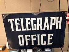 Porcelain Telegraph Office Sign