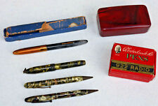 Vintage writing instruments WHOLE BOX of NIBS pens Schaefer Fountain Odd OLD  XG