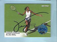 VENUS WILLIAMS 2003 ACE NETPRO RC SIGNATURE AUTOGRAPH AUTO /50