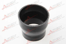 """3ply 4"""" To 3.5''inch Straight reducer 76.2mm SILICONE HOSE COUPLER PIPE Black"""