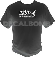 Catch - Filet - Release T-Shirt - boat rod trout bass muskie