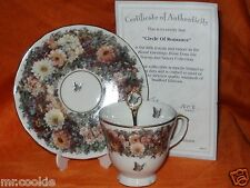 Circle of Romance by Lena Liu on Floral Greetings Teacup, Saucer & Spoon Set Coa