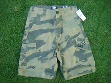 New! Fox Racing Slambozo Cargo Short Military Camo - Size 27 (Ages 10-12+)
