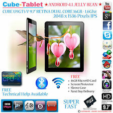 "CUBE U9GTV/U9GT5 RETINA 9.7"" IPS 2048x1536 DUAL CORE 1.6GHZ ANDROID TABLET PC"