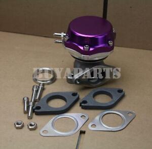 Universal 35/38mm Turbo Manifold Exhaust External Wastegate 14 PSI Spring Purple