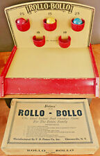 Vintage 1920s Skee-Ball Skill Game ROLLO-BOLLO F. D. PETERS CO. GLOVERSVILLE NY