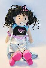 Manhattan Toy Groovy Girls Doll Curly Black Hair Girls Rock Cheetah Shoes Silver