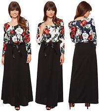 Long Sleeve Floral Jumper Dresses