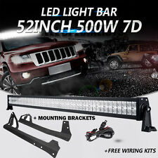 "52"" 500W CREE LED Light Bar Windshield Mount Bracket fit 07-16 Jeep Wrangler JK"