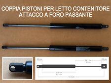 DUE PISTONI A GAS DI RICAMBIO PER LETTO CONTENITORE-1350 N-ATTACCO FORO PASSANTE