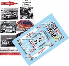 DÉCALS  1/43 réf 602 Porsche Gr4 Béguin Tour Auto 1979
