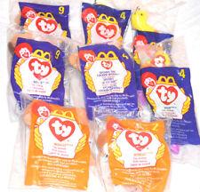 Ty Beanies Eight McDonalds New 8- Toys Inch Spunky Bones Bongo Unopened 1998-99