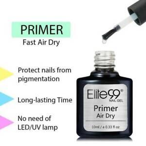 Fast Air Dry Primer Top Coat Gel Polish Water Based No Acid Nail Art DIY Elite99
