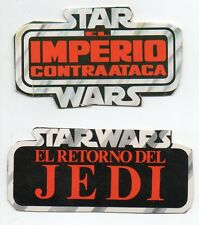 STAR WARS IMPERIO CONTRAATACA & EL RETORNO DEL JEDI PIECES OF SPANISH CARDBOARDS
