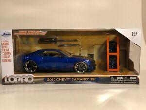 JADA LOPRO 2010 CHEVY CAMARO SS BLUE 1:24 WITH EXTRA WHEELS
