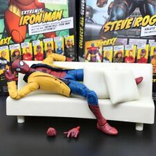 """Marvel Legends Jackted Spiderman Homecoming With Replica Sofa 6"""" Figure Loose"""