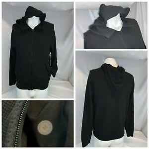 Lululemon Men's Hoodie Jacket M Black Cotton Nylon Stretch Full Zip YGI J1-100