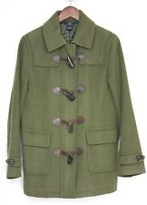 Brooks Brothers Wool Cashmere Duffle Coat 6 Green Horn Toggle Button Duffel