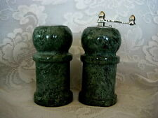 Collectible Green Granite/Marble/Natural Stone Salt Shaker & Pepper Grinder Set