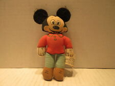 Vintage Knickerbocker Walt Disney Mickey Mouse Cloth Doll With Felt Ears 1976