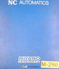 Miyano BNC-20, BNC 34, CNC Machine,  415 page, OP's Tooling Program Maint Manual