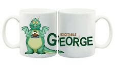 Excitable Edgar Personalised Dragon friends Mug with Any Name Perfect Christmas
