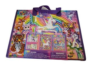 2016 Lisa Frank Unicorn Trifold Portfolio School Binder Folder 10x13