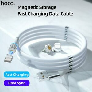 Hoco Magnetic Data USB Cable Fast Charging For iPhone Xiaomi Huawei Wired Cord