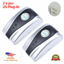 Power Saver Household Electric Energy Saving Box Spikes Buster Silver US Plug-in
