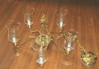 5-Light Chandelier Polished Brass Candle Lights New In box