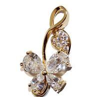 Butterfly CZ Charm Pendant 18k Gold Plated - Butterfly Necklace Fashion Necklace