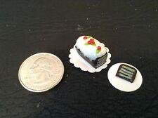 JLWs Dollhouse Miniatures Christmas Chocolate Torte Sponge Layer Cake+Slice 6
